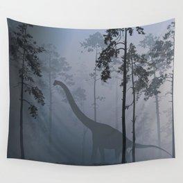 Dinosaur by Moonlight Wall Tapestry