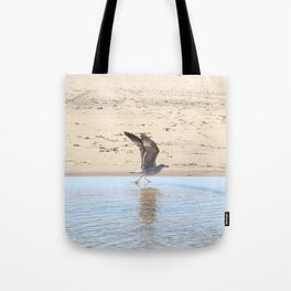 Seagull bird taking off Tote Bag
