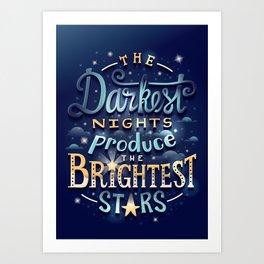 Brightest Stars Art Print