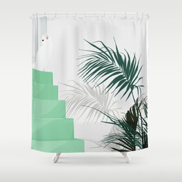 House of the cat Shower Curtain
