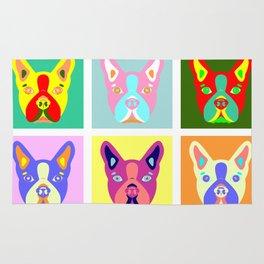 Boston Terrier Pop Art Rug