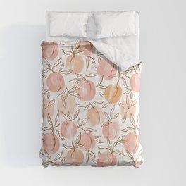Watercolor peach Comforters