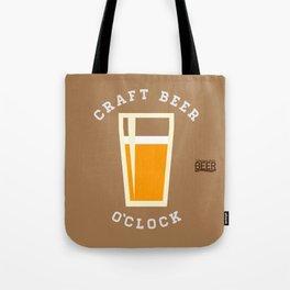 Craft Beer O'Clock Tote Bag