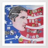 springsteen Art Prints featuring The Boss by Brett Sherman
