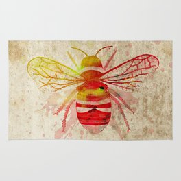 Watercolor Bumblebee Rug