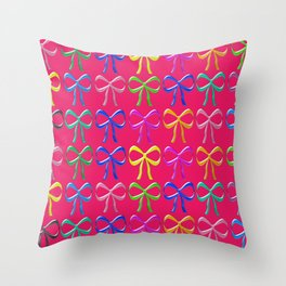 Colorful ribbons pattern Throw Pillow