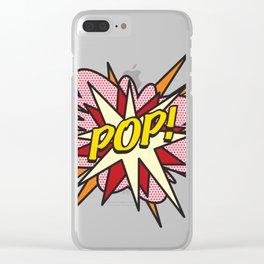 Comic Book Pop Art POP! Clear iPhone Case
