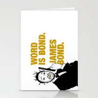 bond Stationery Cards featuring Word is bond. James Bond. by Chris Piascik