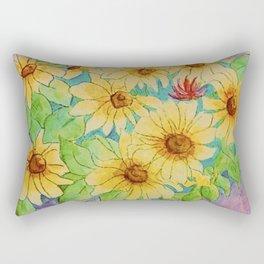 Sunflower watercolor Rectangular Pillow