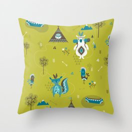 Camp Wichita Boys Throw Pillow