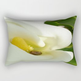 Beautiful Calla Flower On Green Natural Background Rectangular Pillow