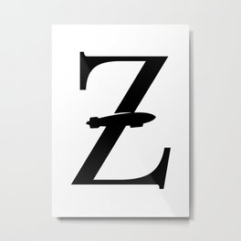 Z for Zeppelin Metal Print