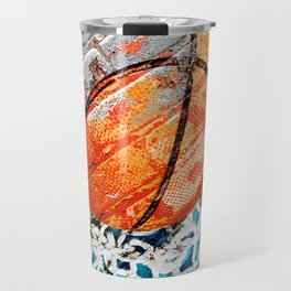 Modern basketball art 3 Travel Mug