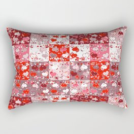 Abstract seamless backgrounds. Patchwork, american countryside style. Rectangular Pillow