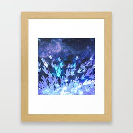 H.E.L.L.O. / blue Framed Art Print