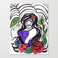 tequila Canvas Prints featuring Tequila by Nini Wolff