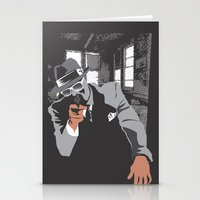 gangster Stationery Cards featuring The Gangster by Dulevartiano
