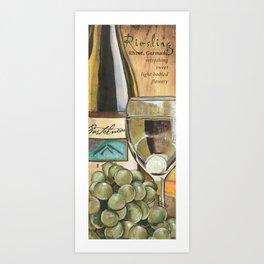 White Wine and Cheese Panel Art Print