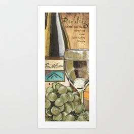 White Wine and Cheese Panel Art Print