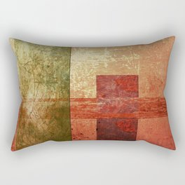 Converge, Abstract Grunge Art Rectangular Pillow