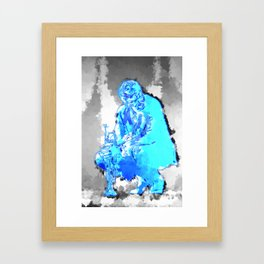 Jazz poster, Jazz print, Jazz art, Jazz wall art, jazz music, abstract art, music poster, music art Framed Art Print