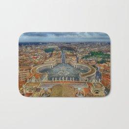 Piazza San Pietro, Vatican City, Panoramic View Bath Mat
