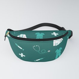 Medical Professional Pattern Fanny Pack