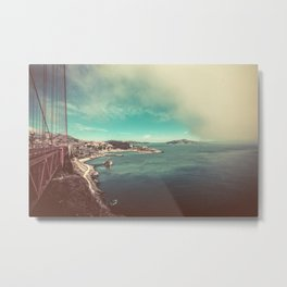 San Francisco Bay from Golden Gate Bridge Metal Print