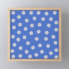 Blue and White Flowers Framed Mini Art Print