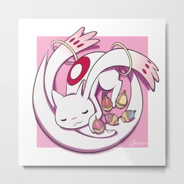 Sleeping Kyubey Metal Print