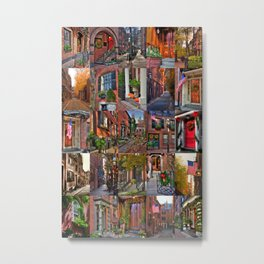 Beacon Hill Collage 2 Metal Print