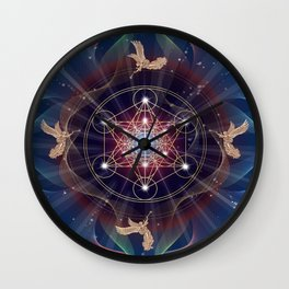 Metatron's Cube - Merkabah - Peace and Balance Wall Clock