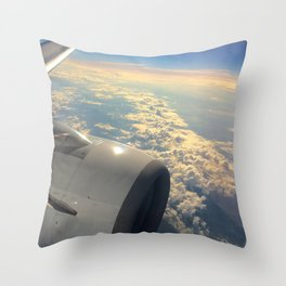 Sun And Clouds From Plane Throw Pillow