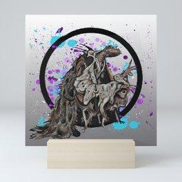 Skek-sis Circle Mini Art Print