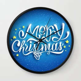 We wish you a merry christmas! Wall Clock