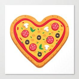 Pizza Love Canvas Print