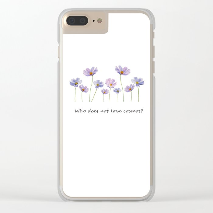 purple cosmos 2 Clear iPhone Case