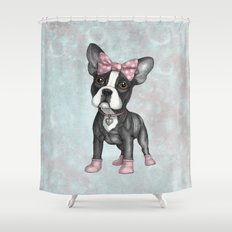 Sweet Frenchie Shower Curtain