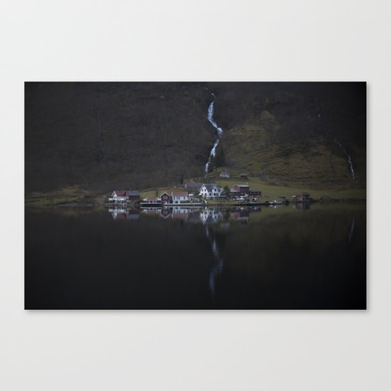 River that vanishes (Fjord) Canvas Print