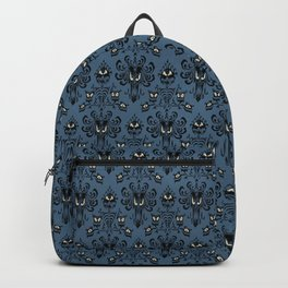 Blue Haunted Mansion Wallpaper Backpack