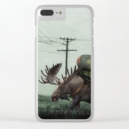 Strategic Nuclear Moose - Fallout - And God Said Let Them Have Beer Clear iPhone Case