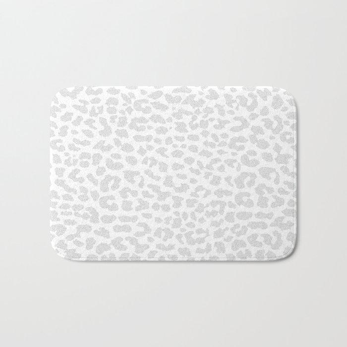 Pale Gray Leopard Bath Mat