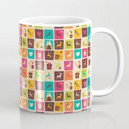 Christmas square pattern 02 Coffee Mug