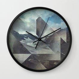 Mountains Glacier - Cuts Wall Clock