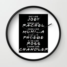 Friends TV Show Wall Clock