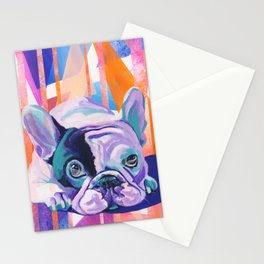 Frenchie Puppy Stationery Cards