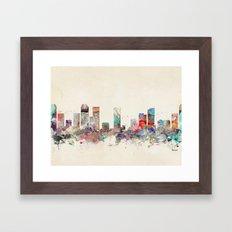 denver colorado  Framed Art Print