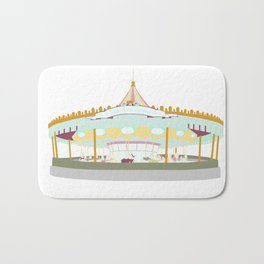 Carousel - white background Bath Mat