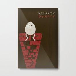 Humpty Dumpty Minimalist Fairytales Metal Print