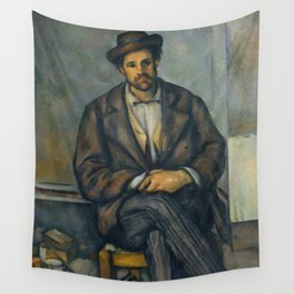Paul Cézanne - Seated Peasant (1892–96) Wall Tapestry